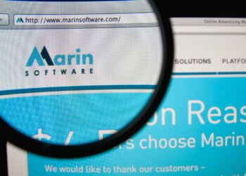 Marin software website zoomed in on the logo